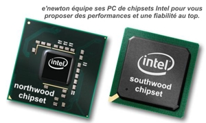 ordinateur bureau à chipsets carte-mère Intel